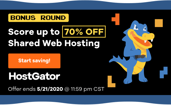 Hostgator 70% off coupon code